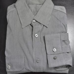 Theory Gray Button-Down Shirt L Large